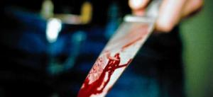 Poignardé couteau sang
