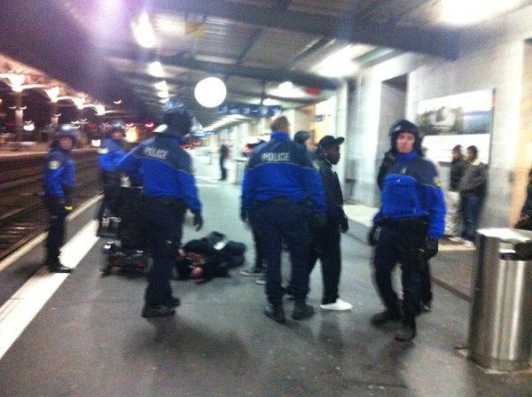 gare Lausanne police