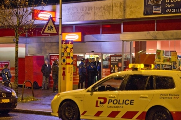 braquage denner lausanne police