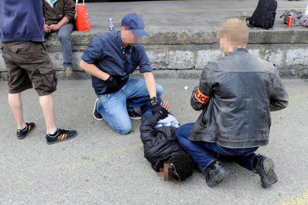 L'arrestation du dealer lors de l'opération Strada, cet été près de la gare de Nyon.