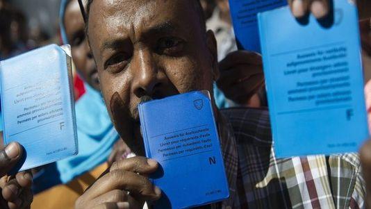 Quelque 5730 demandes d'asile d'Erythréens sont actuellement en cours d'instruction. [Peter Schneider / Keystone]