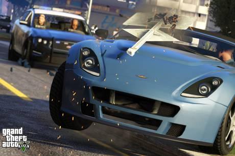 GTA voiture poursuite police