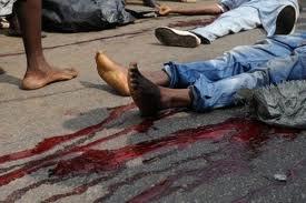 africain black violence sang bagarre pieds dead mort