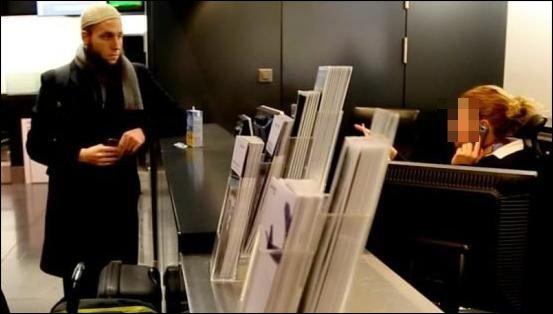 musulman ccis aéroport islam refoulé