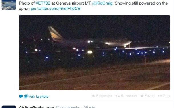 L'avion était détourné depuis son survol du Soudan.