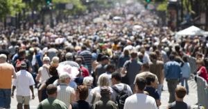 foule population habitants