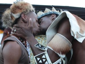 gay marriage black african kiss