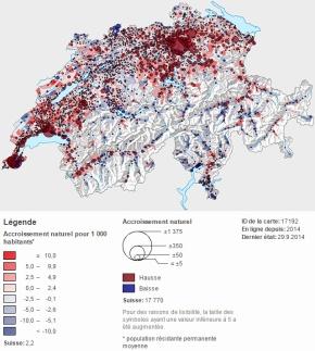 La population de la Suisse a augmenté de 100'000 habitants l'andernier