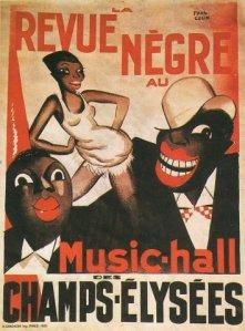 Revue négre music hall champs-élysées paris affiche