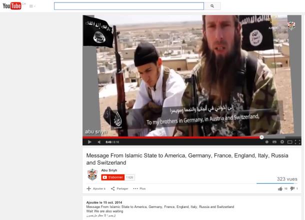 youtube djihad suisse frères barbus islamiste EI isis