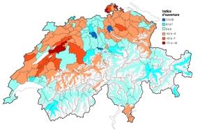 carte indice d'ouverture suisse statistiques