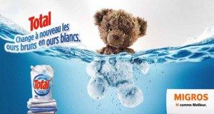 publicité total migrons noirs ours brun blanc