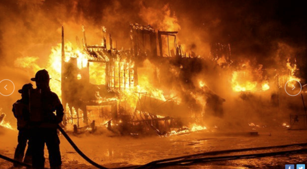 incendie pompier feu flamme