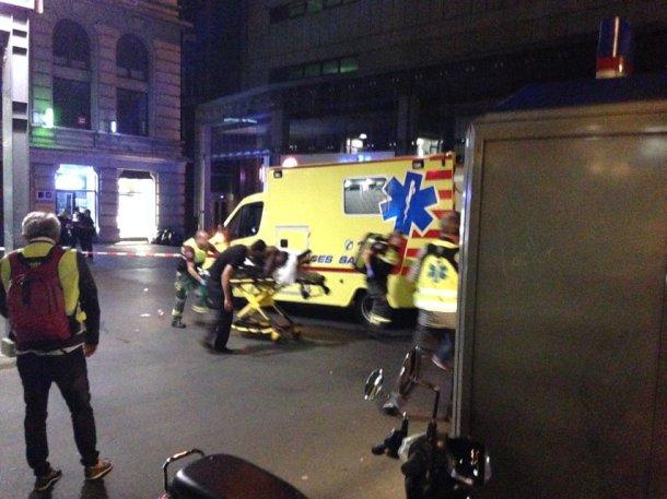 Lausanne africain blessé ambulance police